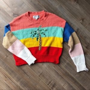 Wildfox striped palm tree sweater
